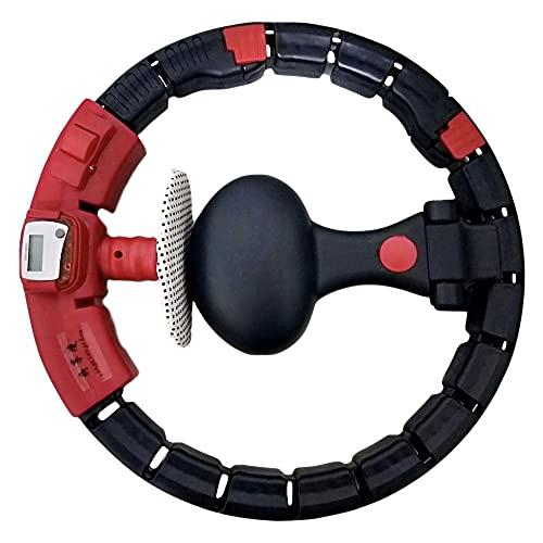Smart Hula Hoop, Aro de Hula Inteligente para Adultos, Smart Hula Hoop Fitness Masaje Ajustable, para Entrenamiento en Casa PéRdida de Peso Cintura Delgada/A/Como se muestra