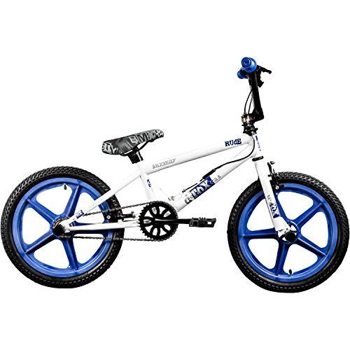 DETOX BMX 18 Zoll Rude Skyway Freestyle Bike Street Park Fahrrad viele Farben (weiß/blau) - 2
