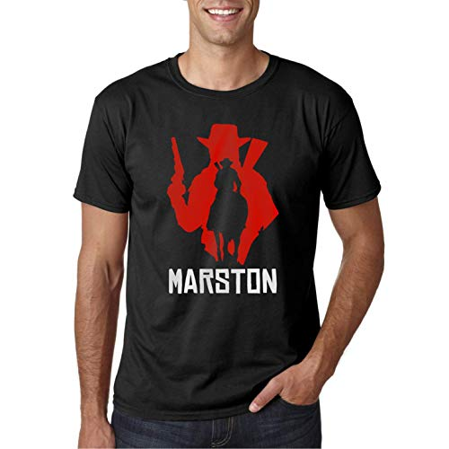 Red Marston Redemption - Camiseta Negra Hombre Manga Corta (M)