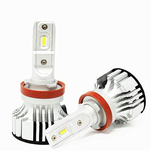 Alla Lighting Adjustable H8 H9 H11 LED Bulb D-CR 9000 Lumens Extreme Super Bright Forward Lighting/Fog Lights/DRL Bulbs