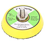 Lijadora de aire Les-Theresa de 50 mm/2 pulgadas, almohadilla de lijado, placas de disco de lijado para pulido, para máquina de papel de lija