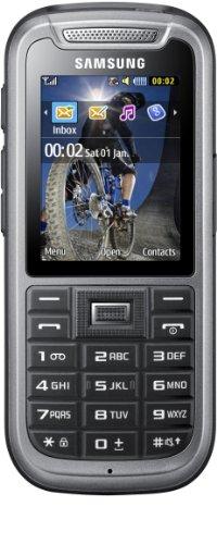 Samsung C3350 Handy (5,6 cm (2,2 Zoll) Bildschirm, 2 Megapixel Kamera) steel-gray