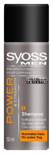 Syoss MEN Shampoo 50ml Power & Strength, 10er Pack (10 x 50 ml)
