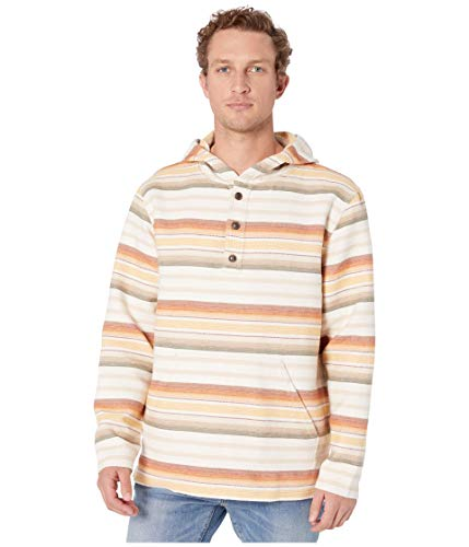 Pendleton Men's Hoody Popover Sweatshirt, Tan Brown Serape, MD