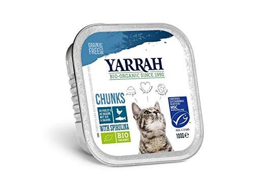 Yarrah - Pâtée Chat Barquette au Poulet & Poisson Bio - 16 x 100 g