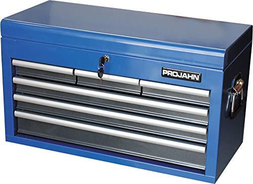 Projahn Werkzeugkasten, Aufsatz für Werkstattwagen, 6 Schubladen, blau, abschließbar, mit Werkzeugeinsatz, 5902-50