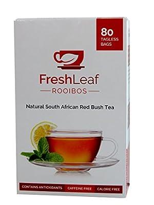 FRESHLEAF Rooibos Tea - 80 Red Tea Bags, Red Tea Detox, 100% Pure South African Origin Red Tea, Caffeine & Calorie Free, Sustainably Farmed, GMO Free, Redbush Tea, Herbal Tea Drink by Freshleaf Rooibos Tea