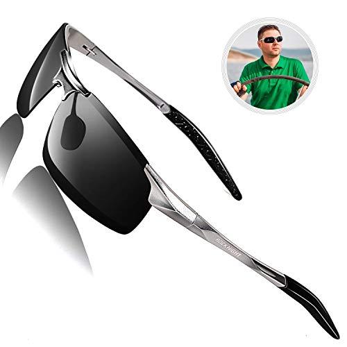 ROCKNIGHT Driving Polarized Sunglasses for Men UV Protection HD Glasses Ultra Lightweight Al-Mg...