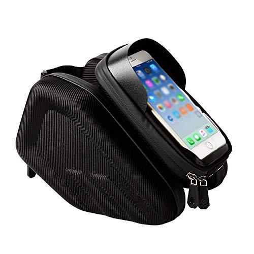 DPFXNN Front frame tas voor fiets telefoon, bovenste buis case voor fiets, mobiele telefoon houder met waterdichte cyclus met touch screen venster.