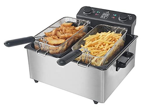 Senya Friteuse électrique cuve Amovible INOX 6L Family Fryer SYCK-DF006, Métal, 6 liters