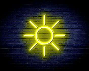 yellow neon sign
