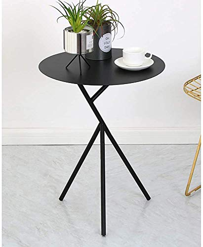 Living Room Sofa Corner a Few Small Simple Wrought Iron Balcony Bedroom Bed Tea Table Small Round Table,Black