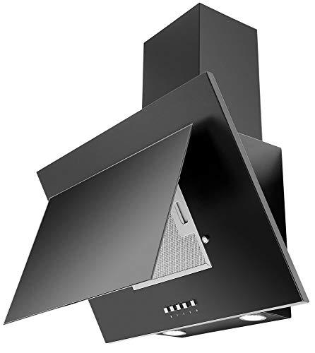 SAGOMA 313340 vertikale Wandhaube mit Schacht, 231 m3/h; 600mm, schwarz