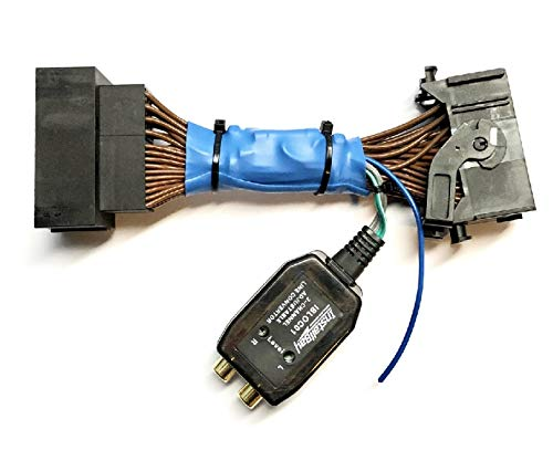 Add An Amp Amplifier Adapter Interface w/Amp Remote Turn On Wire to Factory OEM Car Stereo Radio System for select Chrysler Dodge Ram - Add Subwoofer Bass Amp etc.- No Factory Premium Amp/Bose- Compatible Vehicles listed below