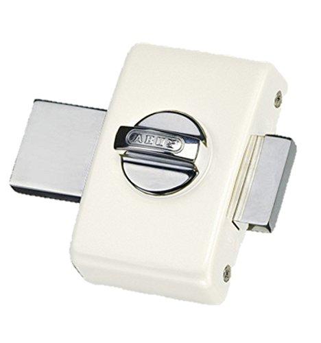 Abus 36959W V B EK–Cerrojo de botón sin cierre con llave/bodega color blanco