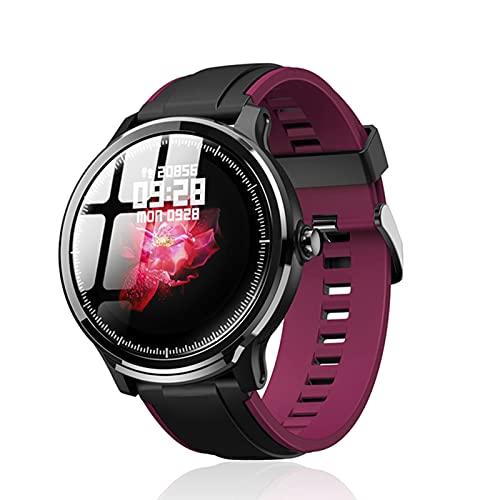 QLK Smart Watch, Probe IP68 Impermeable, Medición de Ritmo cardíaco Las 24 Horas de los Hombres, Monitor de sueño, Modo Deportivo Reloj Inteligente para Android iOS,B
