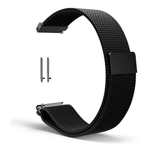 Pulseira Milanese para Smartwatch B57 Magnética 16 mm (Preto)