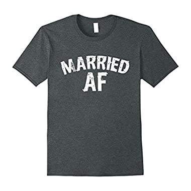 Mens Married AF t-shirt Matching pair for men and women 3XL Dark Heather