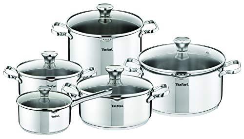 Batería de cocina de acero inoxidable Tefal Duetto