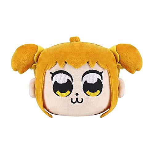 Pop Team Epic Poputepipikku Popuko Pipimi Plush Wallet Coin Bag Anime Cosplay Cute Plush Purse Change Pouch Monedero Pequeña Bolsa de Dinero para Niños, Peluche de Juguete Regalos Divertidos