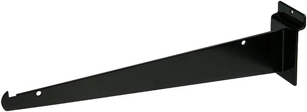 "12"" Black Slatwall Knife Shelf Bracket W/Lip - 24 Pcs Lot - Fits All Slat Panels"