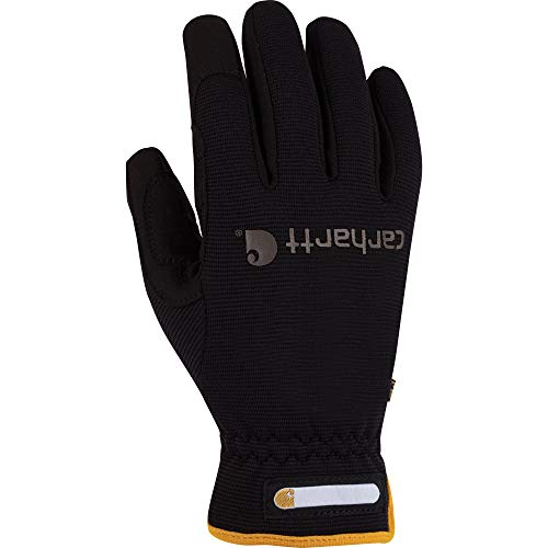 Carhartt Men's Work Flex Spandex Work Glove with Water Repellant Palm, Black, X-Large