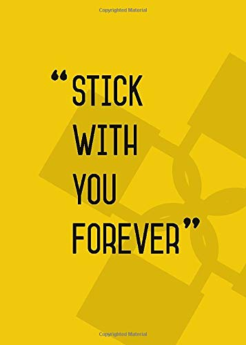 Stick with You Forever: 5x7 Internet Password Logbook Large Print | Password Book Organizer with Tabs | Yellow Design