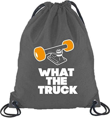 What The Truck, Skateboard Longboard Turnbeutel Rucksack Sport Beutel, Größe: onesize,Dunkelgrau
