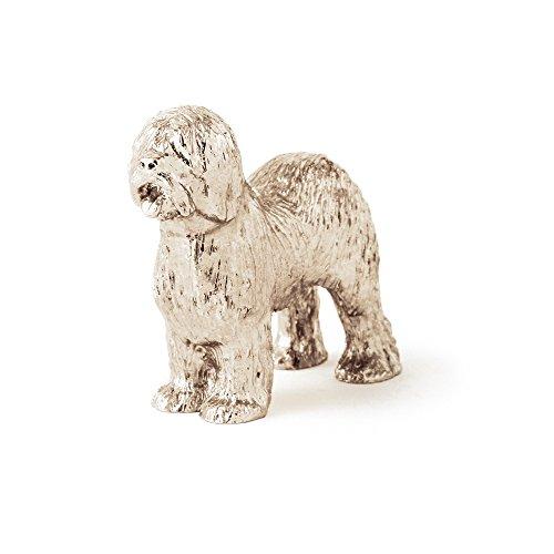 Old English Sheepdog (Visualizza incisione) Made in UK, Collezione Statuetta Artistici Stile Cani