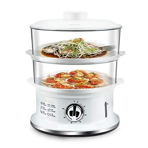 Lampe anti-moustique,Cuiseur à vapeur électrique à chauffage rapide 900W, cuiseur à vapeur 6L à vapeur de légumes, sans panier empilable à 2 couches de BPA