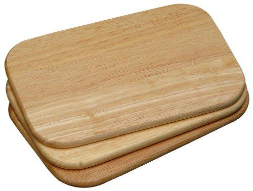 KESPER Planche à Petit Dejeuner Set de 3 23x15x1cm, Plastique, Nature, 25x15x1,3 cm