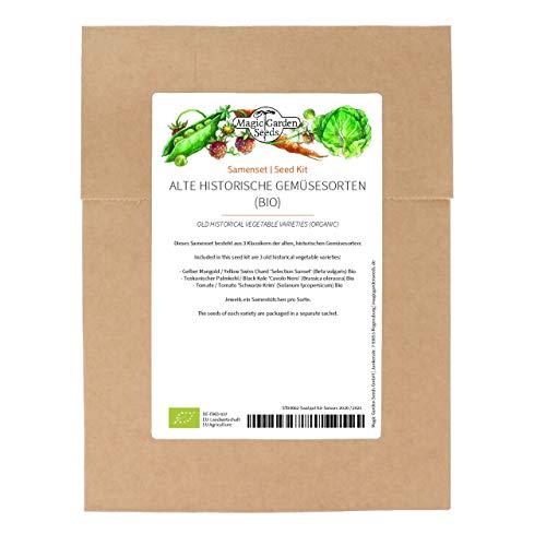 Alte historische Gemüsesorten (Bio) - Samen-Geschenkset mit 3 besonderen Gemüse-Raritäten