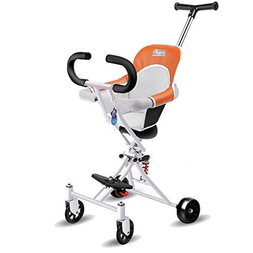 Check Out This Moolo Kids' Children Car Stroller Artifact, 4-Wheeler Simple Light Folding 1-3 -6 Yea...