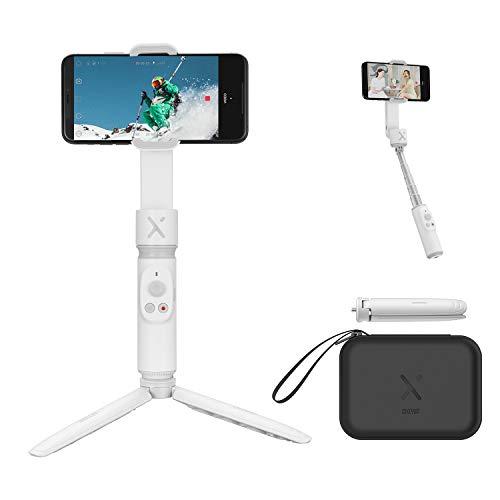 ZHIYUN Smooth-X Smartphone Pieghevole Stabilizzatore del Giunto Cardanico Stick per Selfie Vlog Youtuber (Bianco Combo)