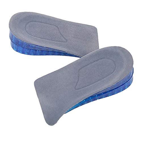 Yangver 1 paar 2-laags silicone halve zool verhoging inlegzolen voor heren dames, zacht anti-slip schoeninlegzolen met honingraatdesign demping schoen pads, verhoogt 4,5 cm