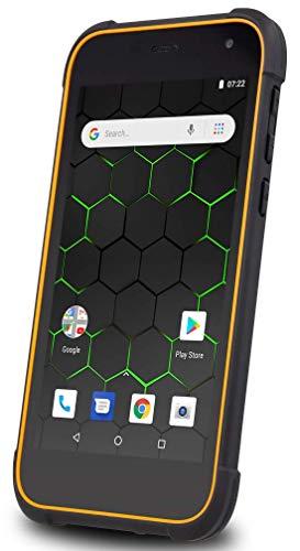 "Hammer Active 2 LTE 5.0"" HD IPS, Outdoor Smartphone ohne Vertrag, Gorilla Glass 3, Wasserdicht, Stoßfest (IP68 IK04), Mega-Akku 5000mAh, Robustes Handy, Quad-Core, NFC, Dual SIM, Schwarz-Orange"