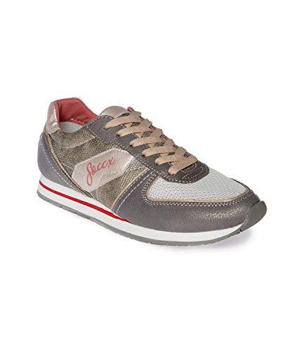 SOCCX Damen Sneaker im Materialmix
