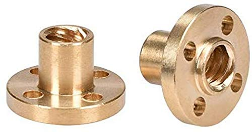 XHCP 3D Printer Parts Copper Trapezoidal Screw Nut For T8 Screw T8 Nuts Stepper Motor, Rail Screw