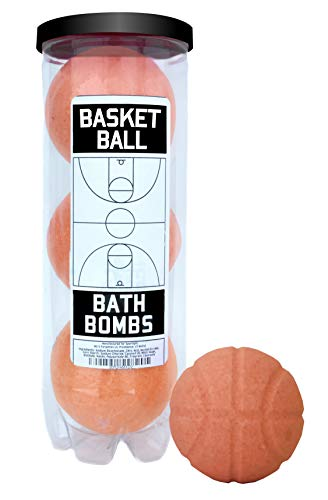 Basketball Bath Bombs - 3 pack - Luxury Scented Bath Bomb Fizzies -...