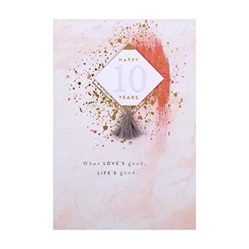 10th Wedding Anniversary Card from Hallmark - 3D Tag Design