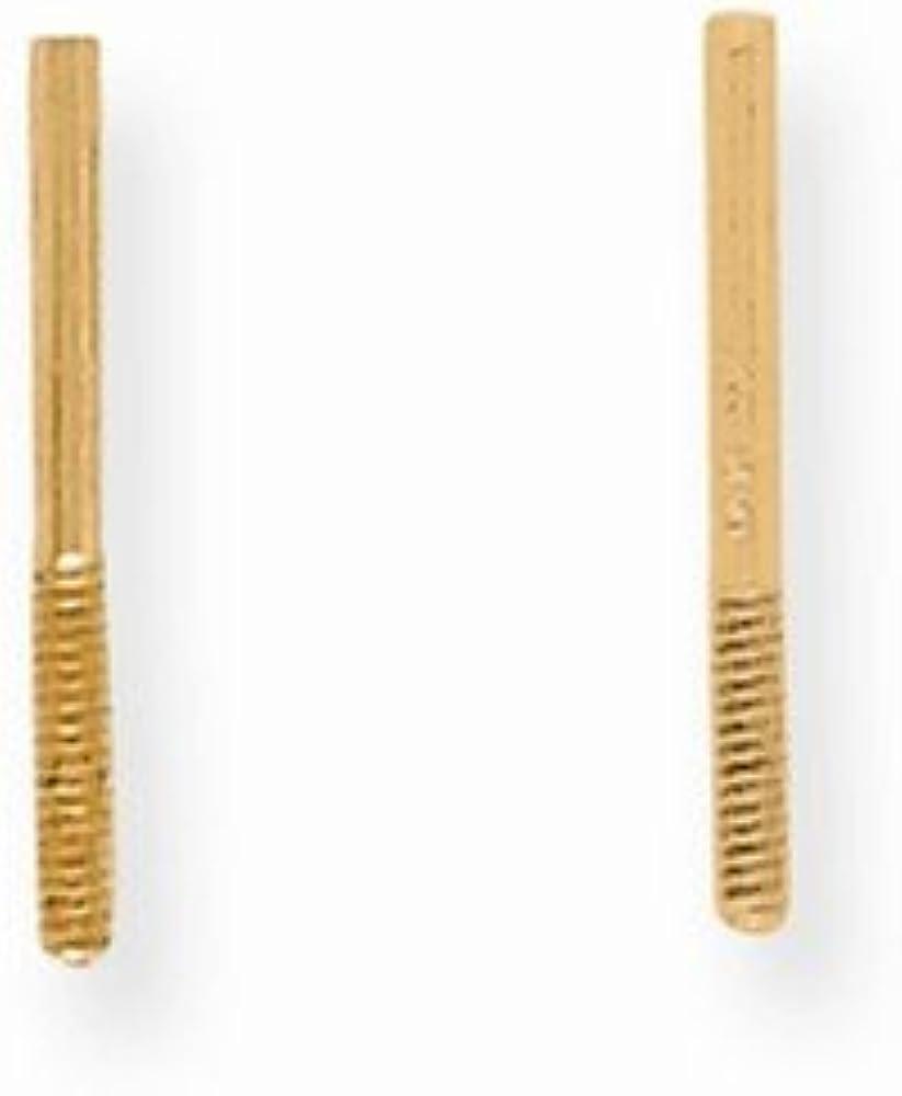 14K Yellow Goldy Push On/Thread Off Earring Post