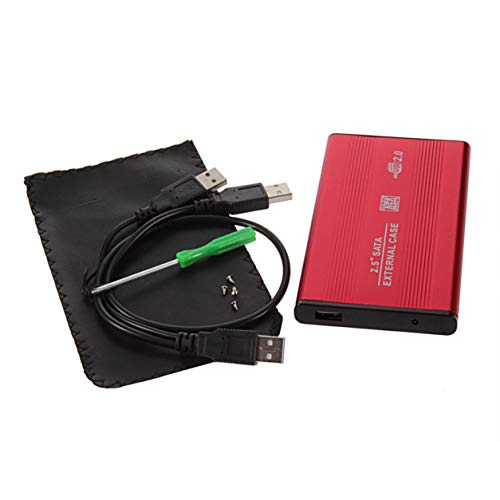 MeterBew1147 USB 2.0 2.5 Pulgadas a Prueba de Golpes USB 2.0 Aluminio Almacenamiento Externo Disco Duro SATA Caja de Caja de Caja HDD