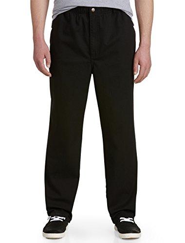 Harbor Bay by DXL Big and Tall Full-Elastic Waist Jeans, Black, 2X Waist/30 Inseam