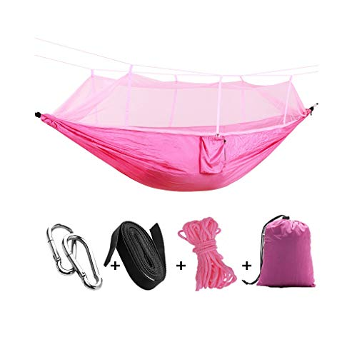 zxb-shop Swings Seats Portable Parachute Nylon Travel Camping Hammock, Camping Hammock with Mosquito Net, Swing Chair for Indoor, Outdoor, Hiking, Patio, Travel Playground Swing Set (Color : C)