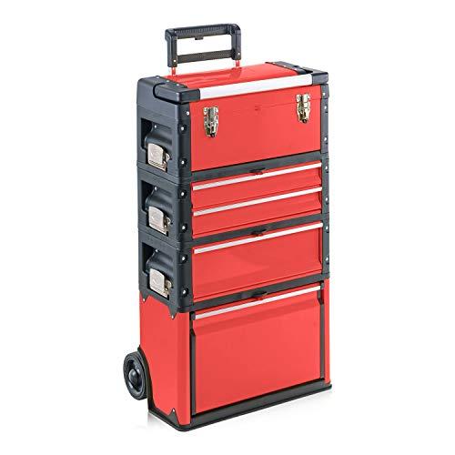 Werkzeugtrolley, 4-fach 1k.1.2.1 Comfort rot