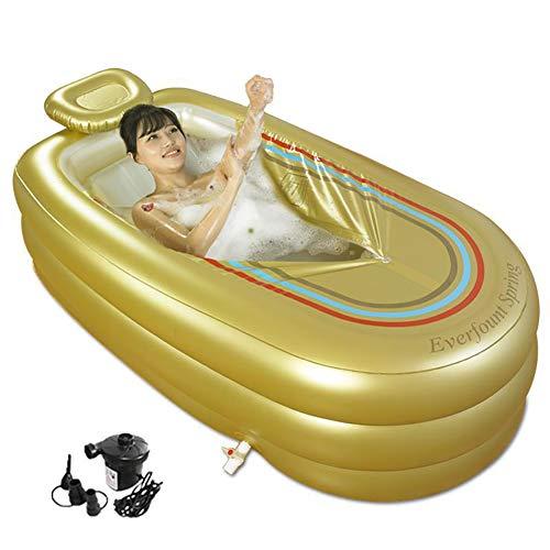 ZL Faltbare Aufblasbare Dicke Warme Erwachsene Badewanne, Spa-Badewanne, Kinder Aufblasbare Pool, Mit Nackenkissen Und Luftpumpe