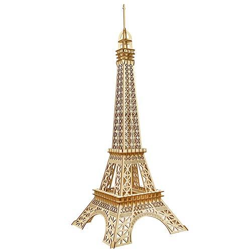 CPZP Eiffelturm 3D Puzzle Holz DIY Baumodell sicher und umweltfreundlich