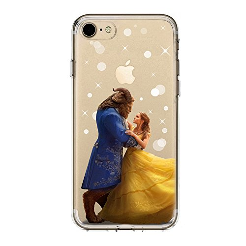 SLIDE IP7 / IP8 Cover TPU Gel Trasparente Morbida Custodia Protettiva, Cartoon, Special Collection, La Bella e la Bestia, iPhone 7, iPhone 8