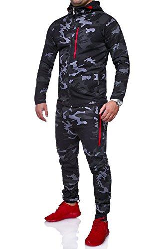 MT Styles Trainingsanzug Harlem Sporthose TR-5037 [Schwarz, M]