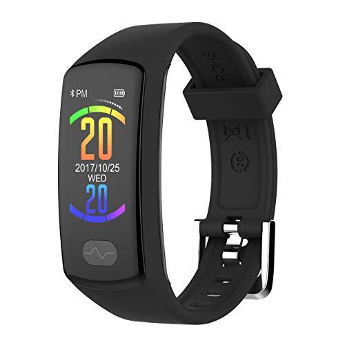 Zeerkeer Pulsera de Actividad Reloj Inteligente Impermeable IP67 rastreadores de Ejercicios 0.96 Electrocardiograma PPG, podómetro, calorías SMS para Android y iOS